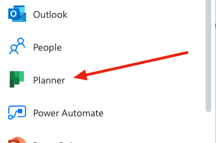 Image showing the Planner Icon in Office 365