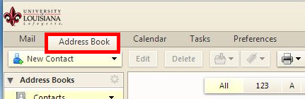 Choose Address Book tab
